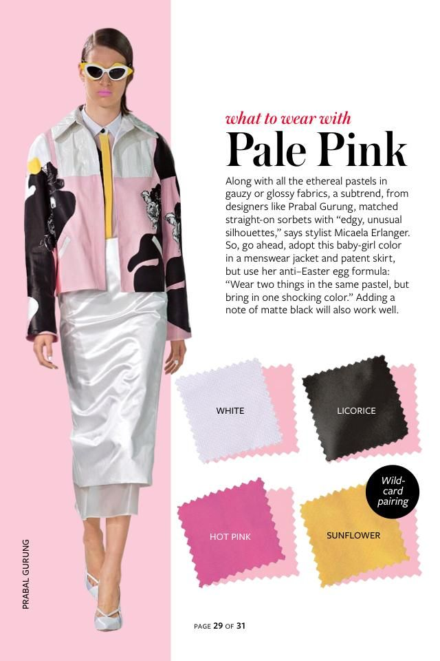 2014 Springsummer Color Charts From Instyle Magazine