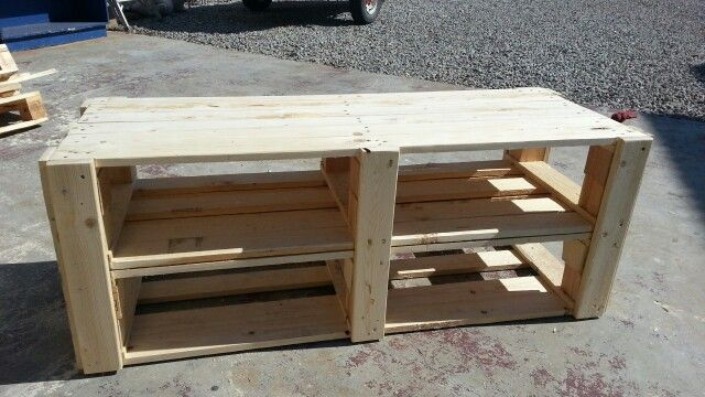 Tv stand made out of old pallets projects i 39 ve done for Diy pallet tv stand instructions