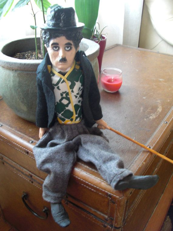 Vintage Charlie Chaplin Doll Toy Puppet by NorthboundSalvage, $45.00