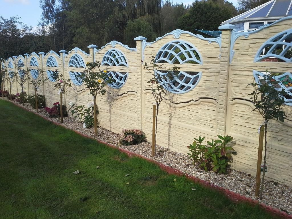 Artwork of wall fence panels appliance exteriors pinterest artwork of wall fence panels appliance concrete postsconcrete baanklon Gallery