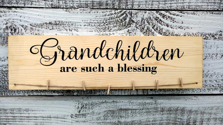 Grandkids photo holder Grandchildren picture frame Grandparents picture frame Grandparent Photo Display The Greatest Blessing #grandparentphoto