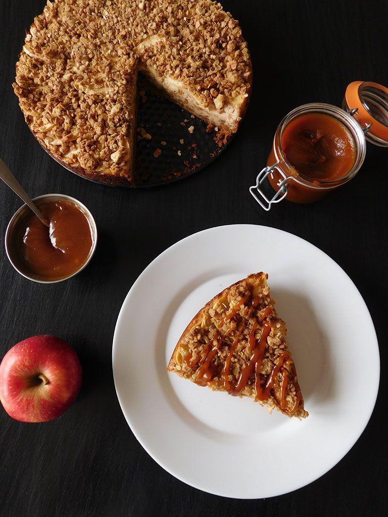Cheesecake aux pommes et au caramel | Recette | Cheesecake ...