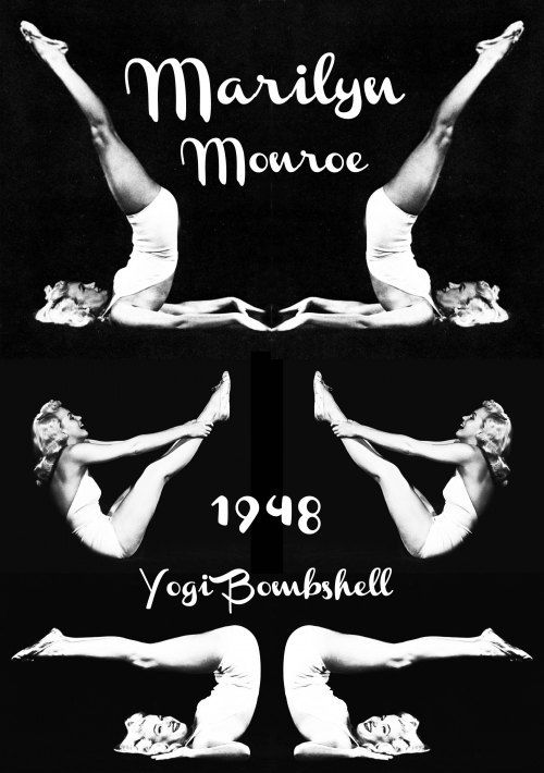 Marilyn Monroe doing her yoga practice. A lady called Indra Devi taught Marilyn, Greta Garbo and Elizabeth Arden yoga in Hollywood in the 40′s. =)