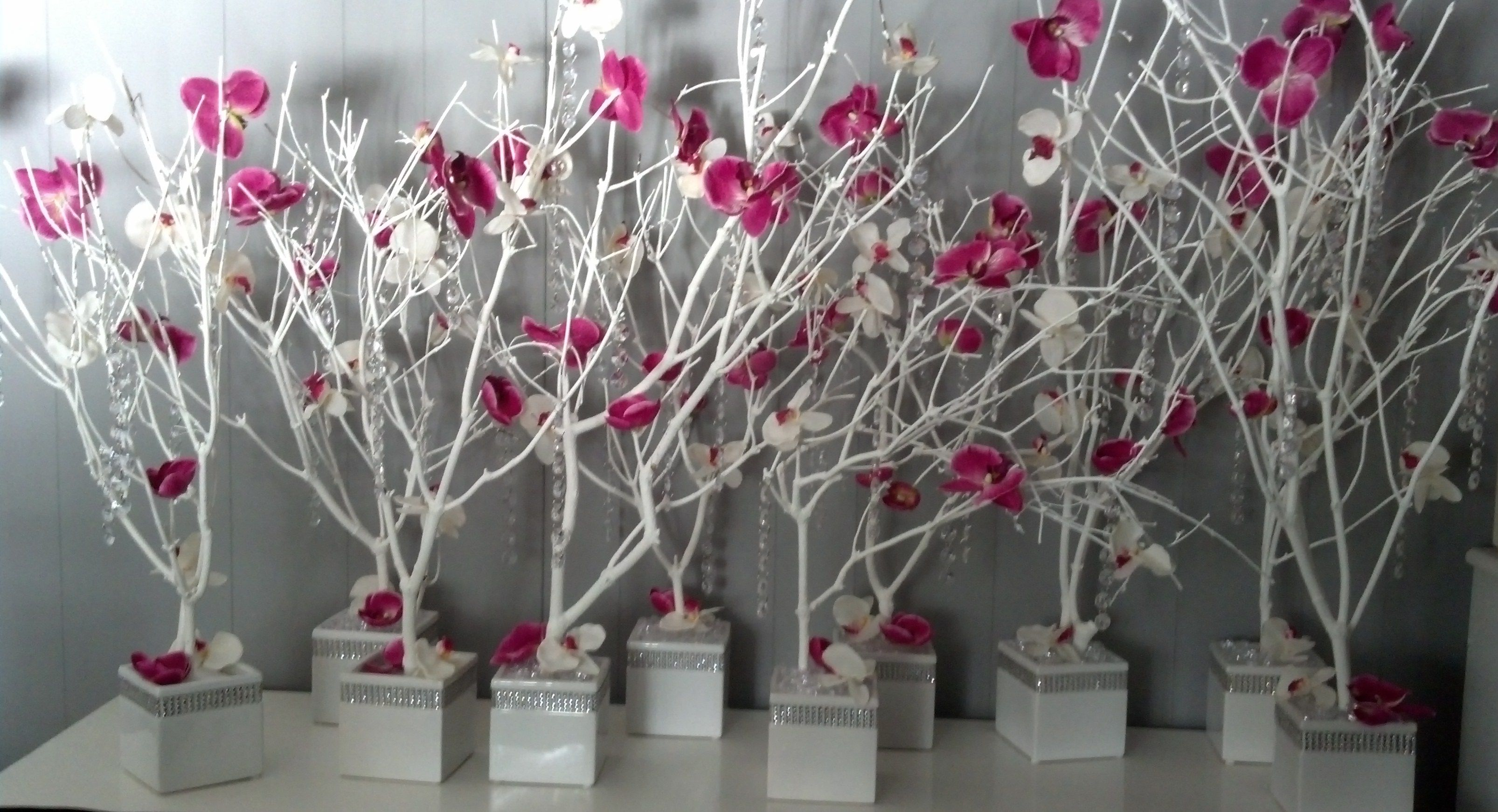 Diy crystal and orchid tree centerpieces weddingbee do it yourself diy crystal and orchid tree centerpieces weddingbee do it yourself branch wedding junglespirit Image collections