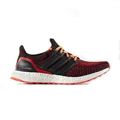 adidas ultra impulso mens correndo trainer scarpa nera / rosso, vista più