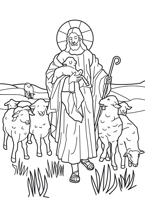 jesus the good shepherd coloring pages PSR Pinterest Sunday - copy coloring pages for zacchaeus