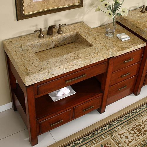 Amber Ridge Single 56 Inch Transitional Modular Bathroom Vanity