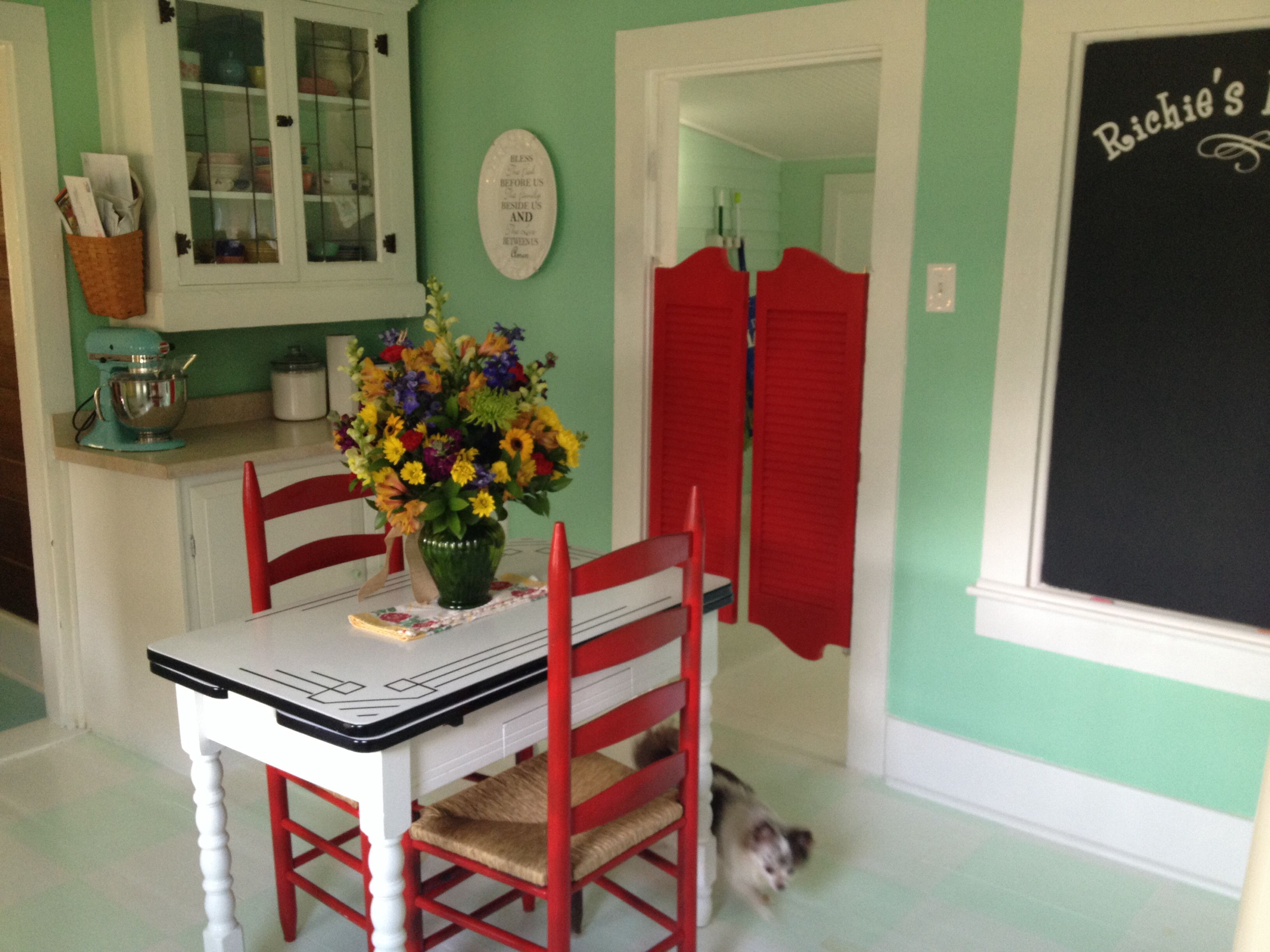 Love The Red Swinging Shutter Door Would Be Great And Allow Me To Put In KitchenKitchen Dining RoomsCozy