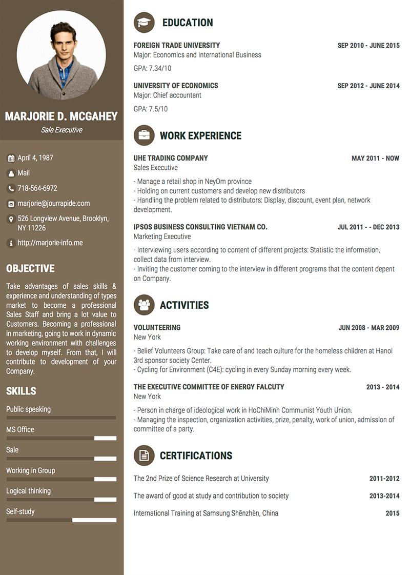 Sample CV Design Director Exemple cv, Langue anglais