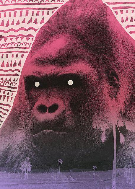 pretty angry gorilla