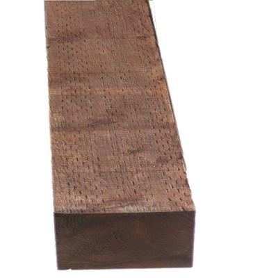 Pressure Treated Timber Hf Brown Stain Common 4 In X 6 In X 12 Ft Actual 3 56 In 5 63 In X 144 In Pressure Treated Timber Lumber Front Garden Design