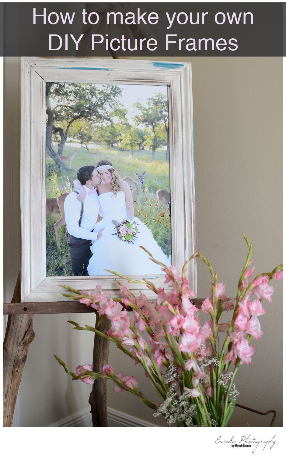 How to make your own DIY Picture Frame out of Baseboards, Crown ...
