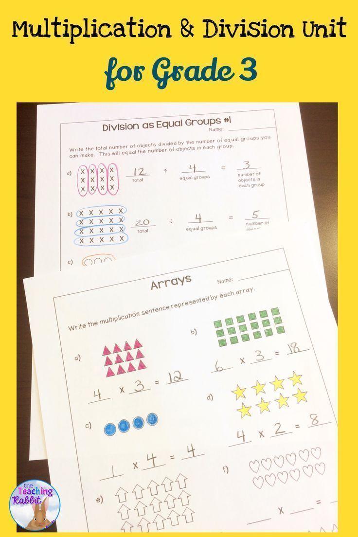 Multiplication & Division Unit For Grade 3 Tario Curriculum