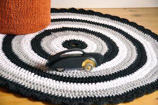 Virkattu matto, ontelokude, Tuulia design