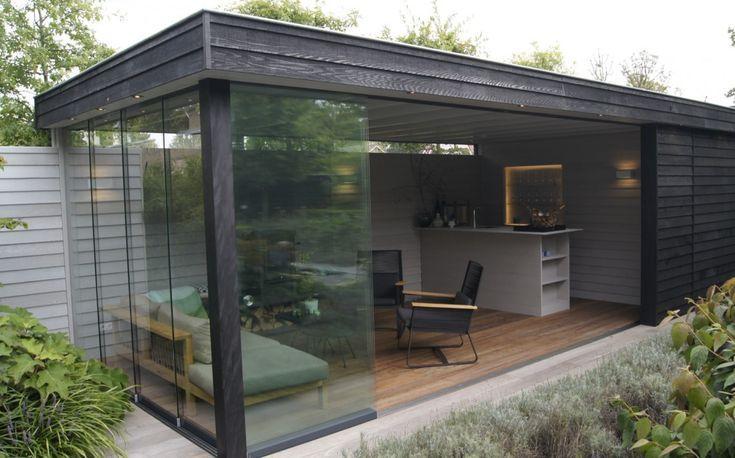 Gartendesign mit luxuriösem Gartenpavillon, gartendesign