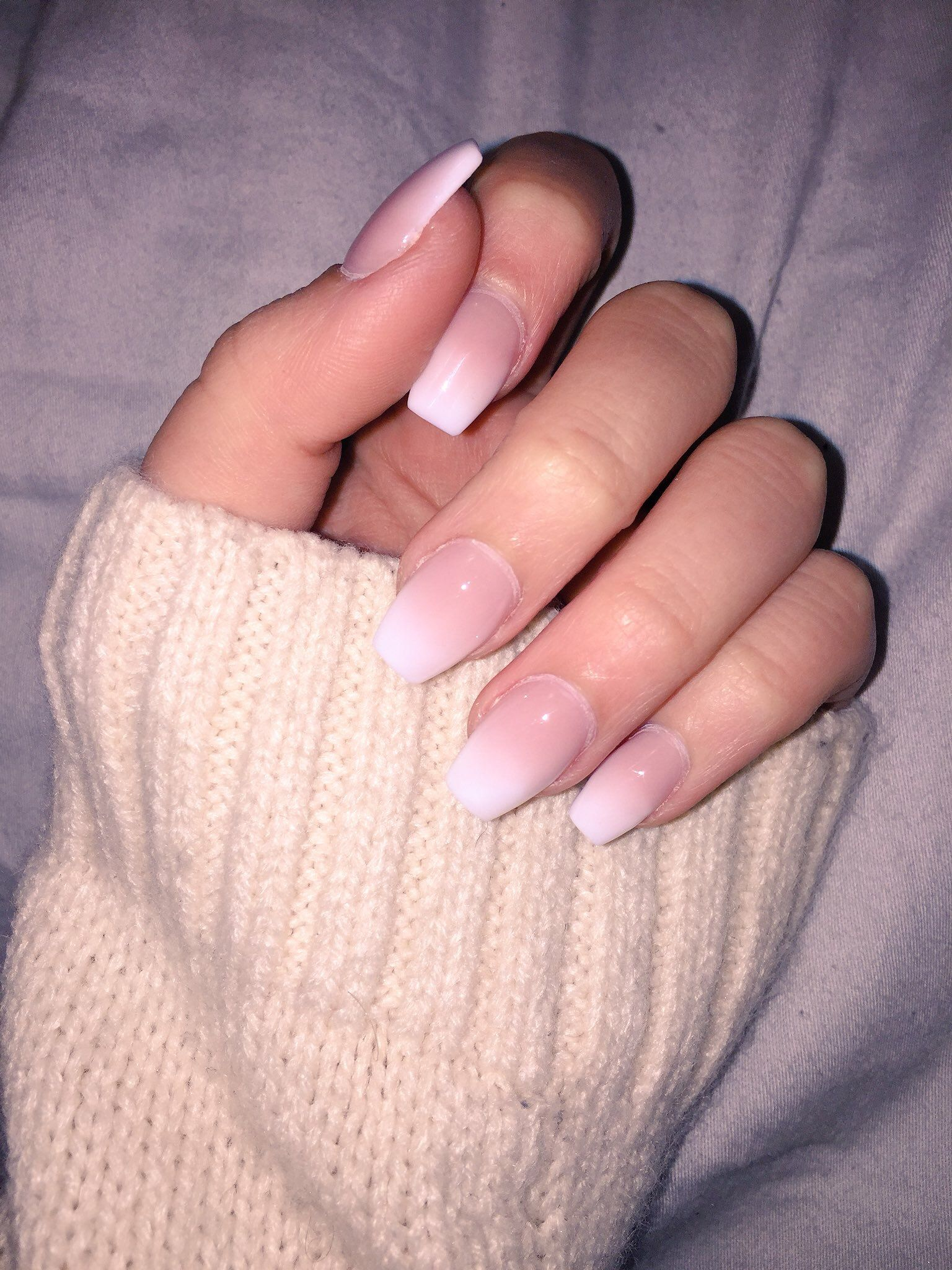 Acrylic French Ombre French Acrylic Nails Ombre Acrylic Nails Winter Nails Acrylic