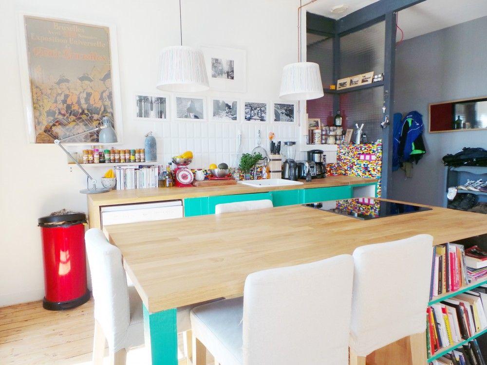 Un intérieur cosy et colore cuisine - salle à manger Pinterest