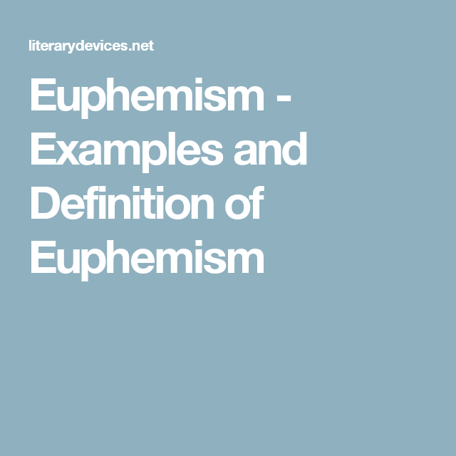 Euphemism   Examples And Definition Of Euphemism