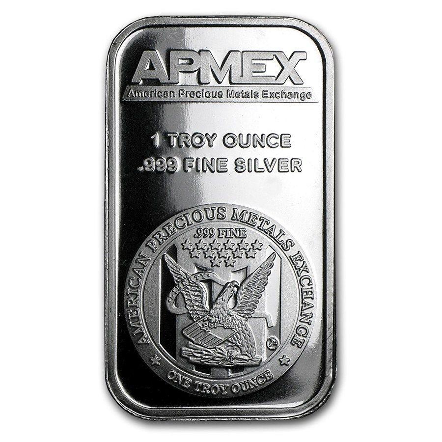 1 Oz Silver Bar Apmex Gold Bullion Bars Silver Bars Gold Stock