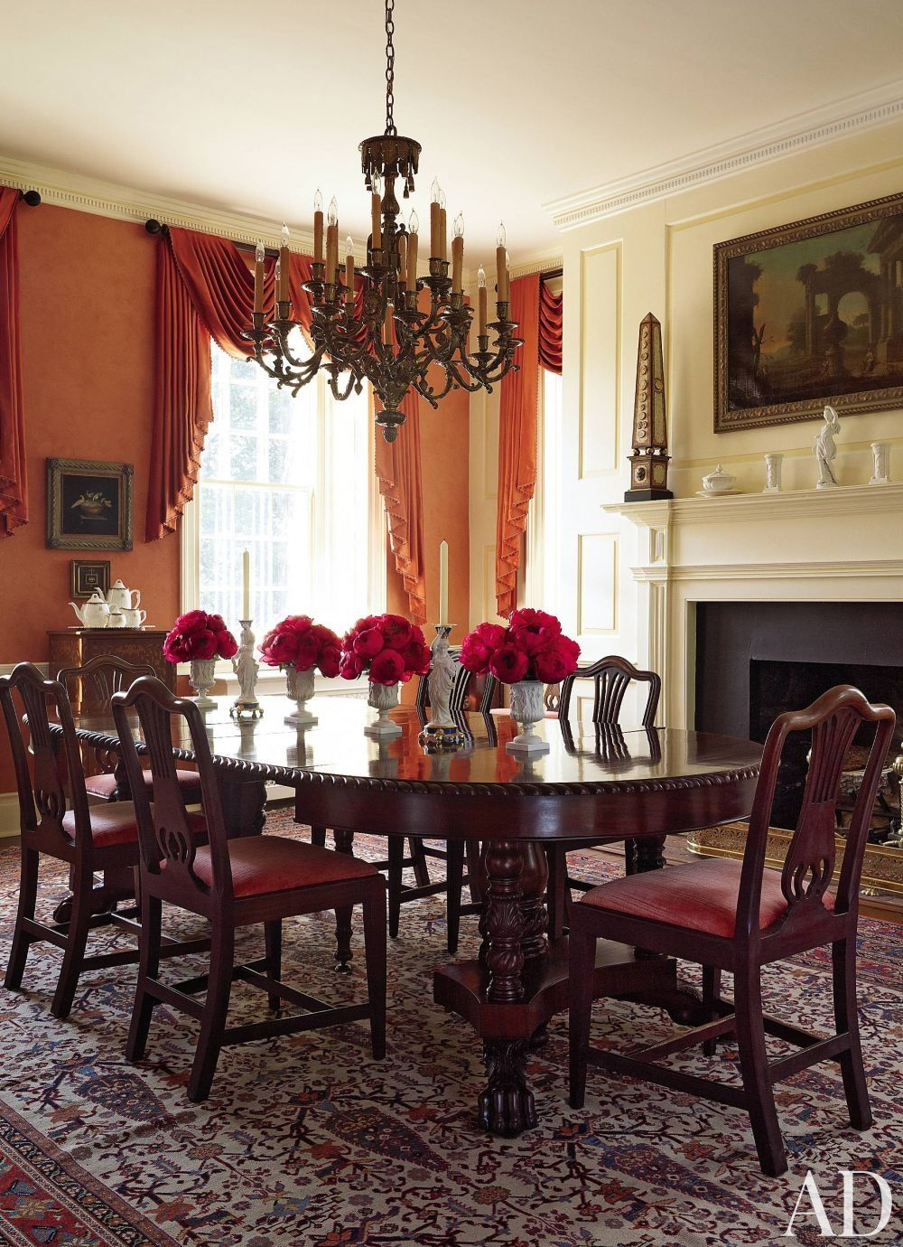 Traditional Dining Room By Alison Martin Interiors Ltd And Jean Perin Interior Design In Virginia