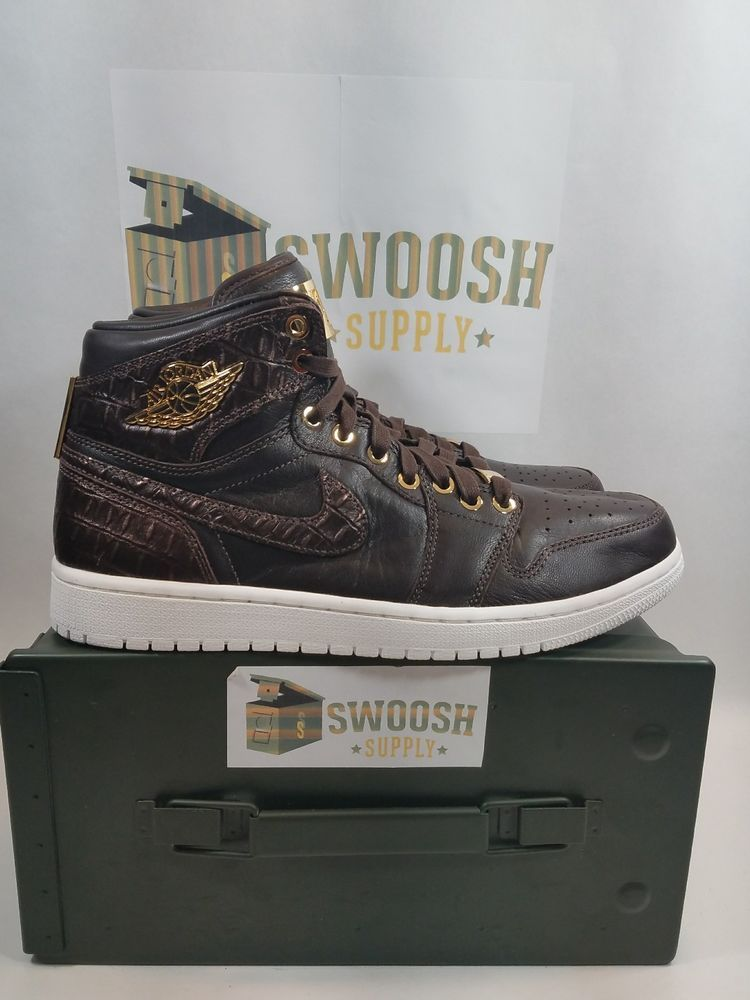 promo code 82147 3b21b NIKE AIR JORDAN 1 PINNACLE BAROQUE BROWN METALLIC GOLD 705075-205 Men s SIZE  9.5  Nike  BasketballShoes