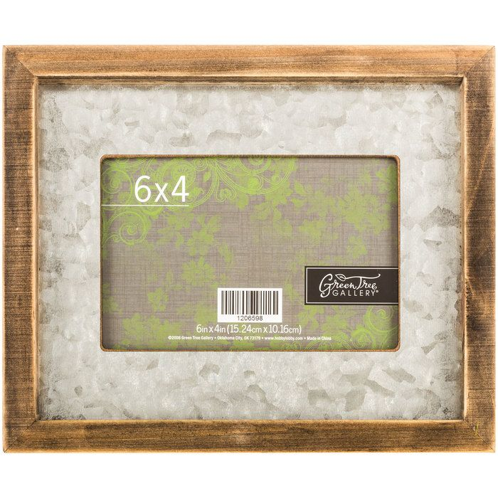 Get Galvanized Metal Accented Wood Frame - 4 x 6 online or find ...