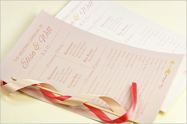 Make Your Own Ribbon Wand Programs Just Glue Onto A Skewer And Thread Through Single Page Card Stock Program