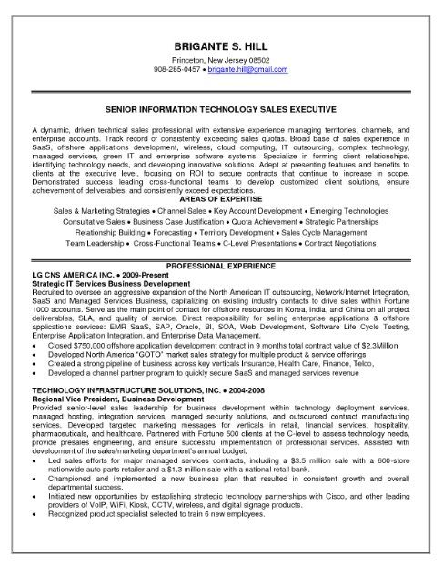 Senior Executive Sales Resume  HttpJobresumesampleCom
