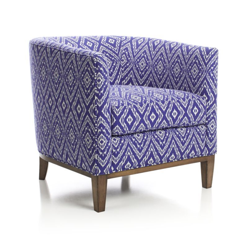 Drew chair crate and barrel the fabric in black for a