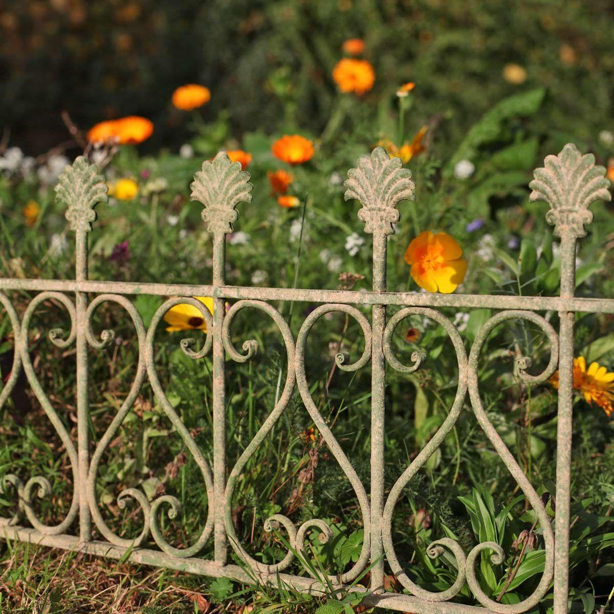 Bordure De Jardin Antique En Metal Vieilli Long 58cm Bordure