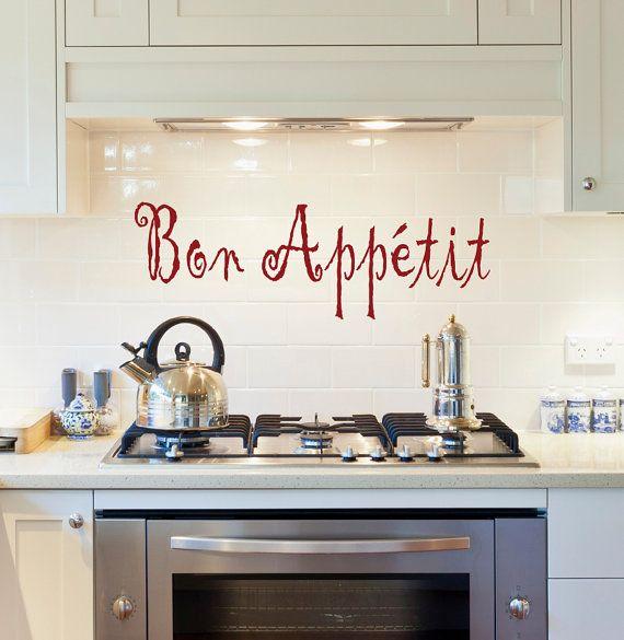 Good Bon Appetit, Kitchen Wall Decal, Kitchen Decor, Wall Decal
