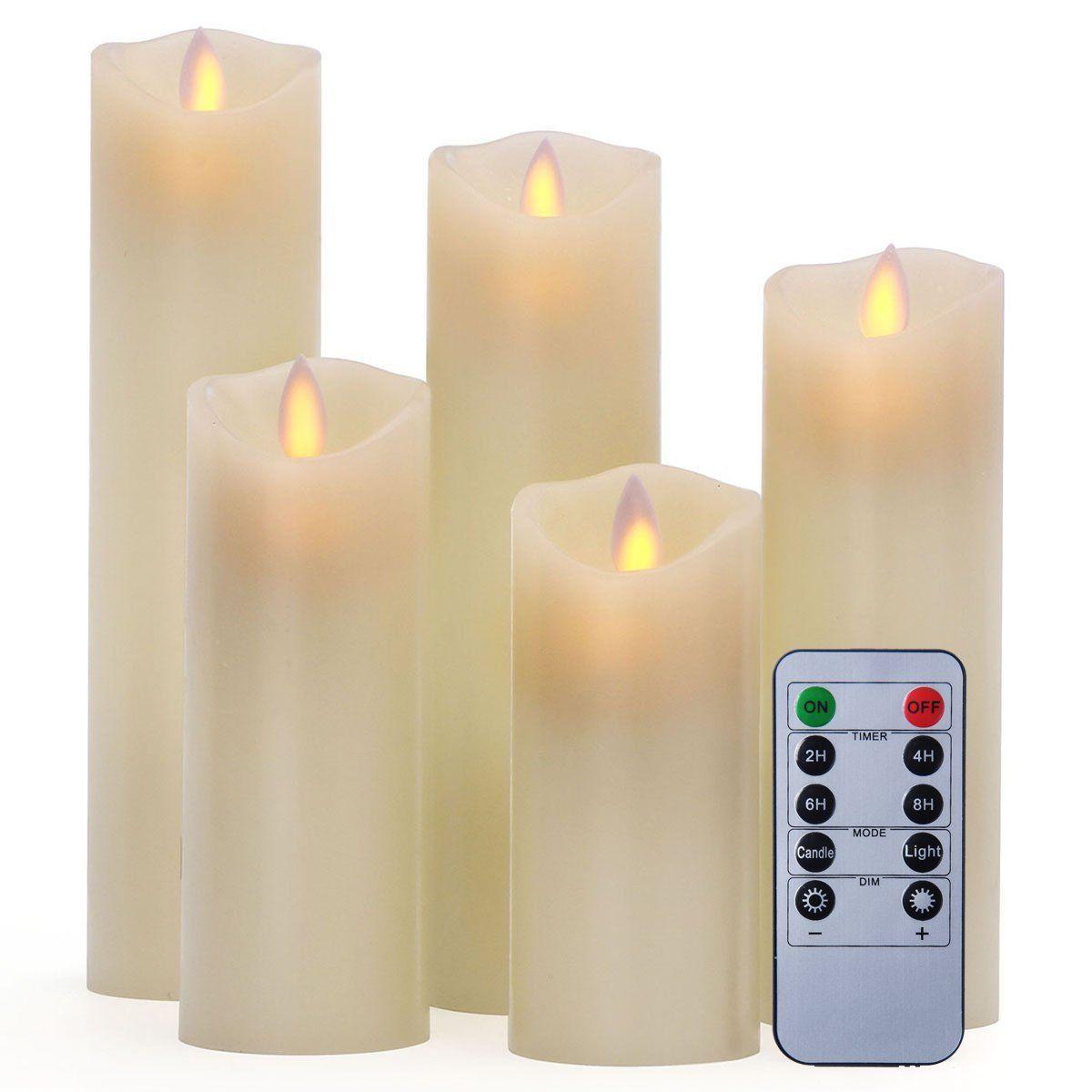 Pandaing u u u u u set of flameless candles with key