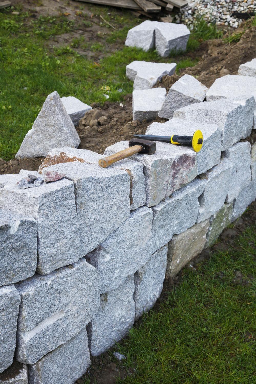 Trockenmauer Steinmauer Garten Trockenmauer Gartenmauern