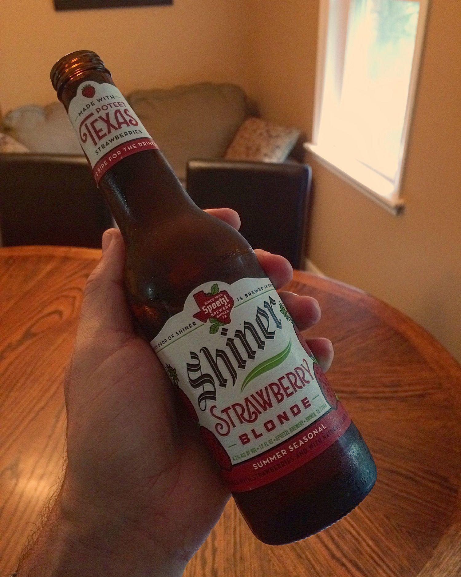 Shiner Strawberry Blonde Beer Bottle