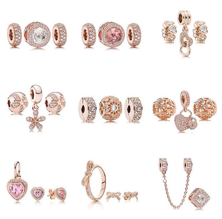 orecchini pandora a forma di rosa