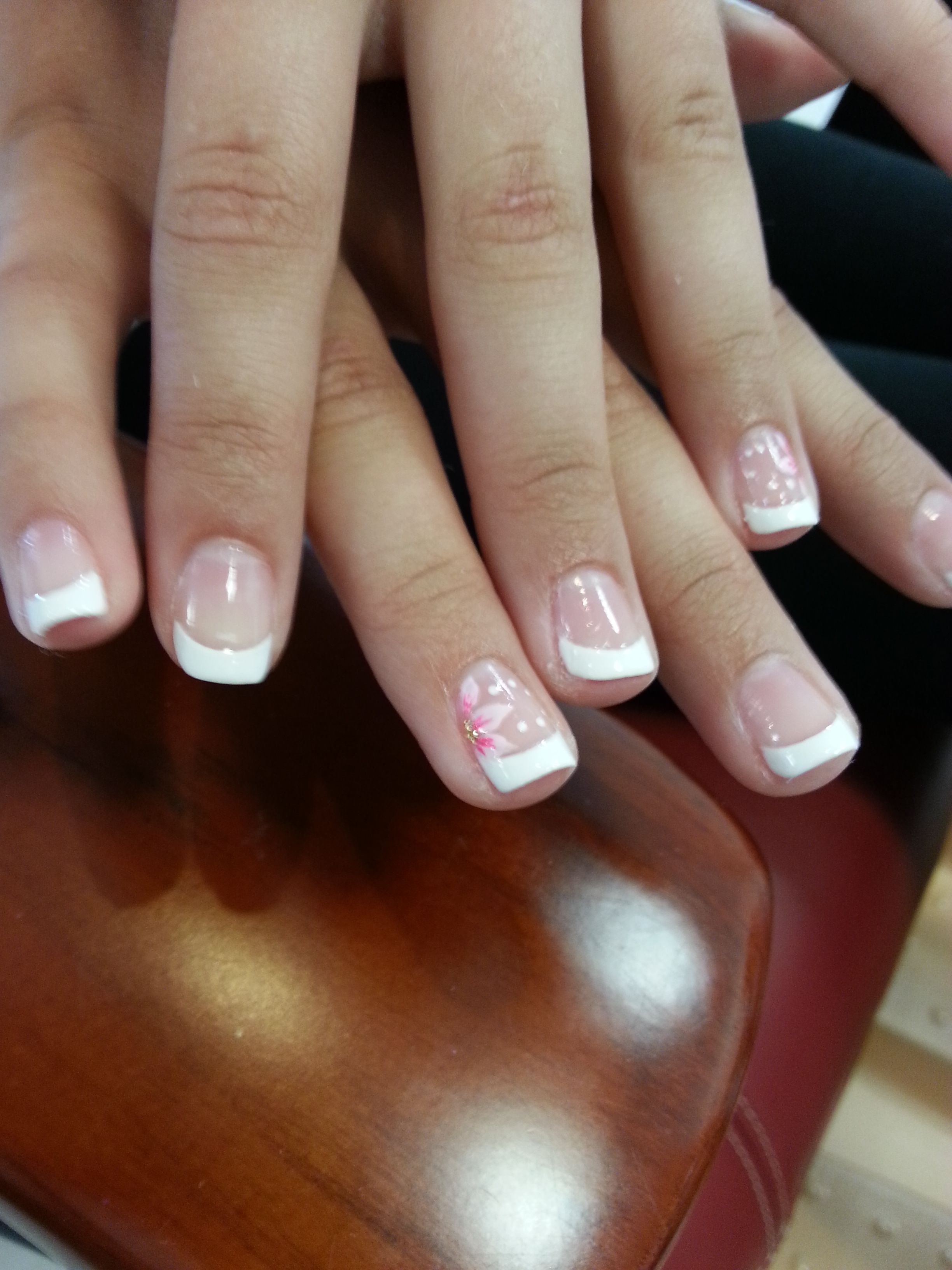 French Nail Flower Design Cute French Nail Lovely Kids