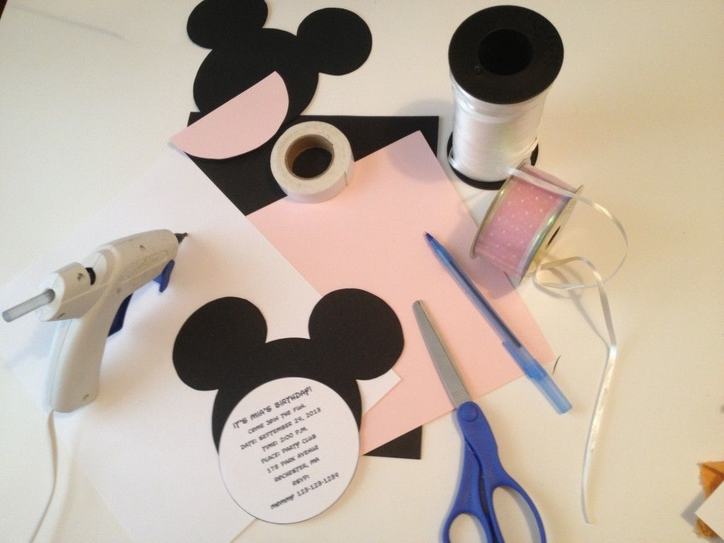 DIY Minnie Mouse Invitations Template Projects to Try Pinterest