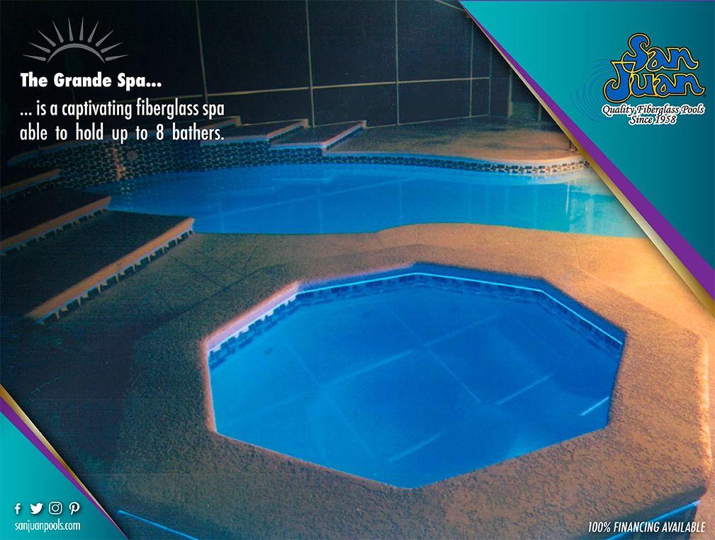 The Grande Spa San Juan Pools Fiberglass Pools Pool Small Fiberglass Pools
