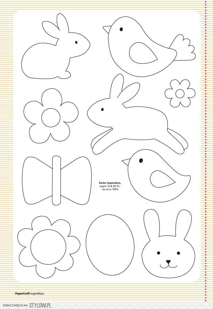 3969001033 Free Template for Felt Woodland Creatures Pattern - copy coloring book pages of rabbits