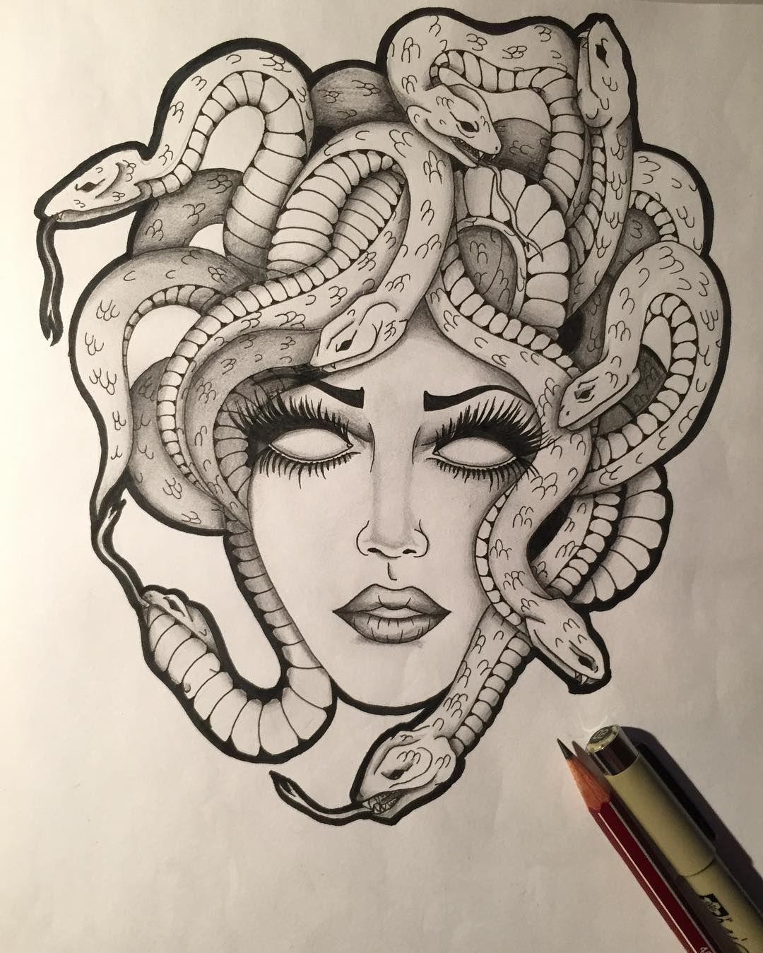 Medusa Illustration Tattoo: Pin By Shannon Conaty (Helsel) On Art/drawings