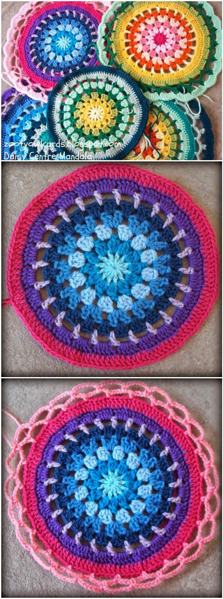 60+ Free Crochet Mandala Patterns - Page 7 of 12 | Mandalas, Tejido ...