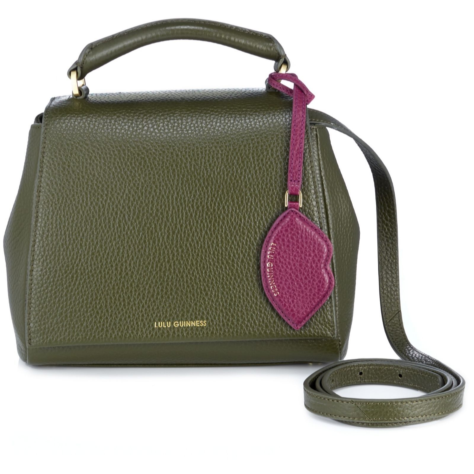 159601 Lulu Guinness Small Rita Soft Grain Leather Crossbody Bag With Lip Charm Qvc Price 318 00 The Handbag From Is Created