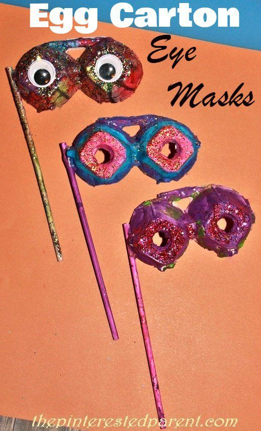 Egg Carton Eye Mask Craft                                                       …