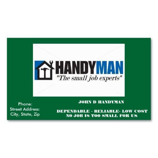 Handyman Business Card Zazzle Com Handyman Business Handyman Business Cards