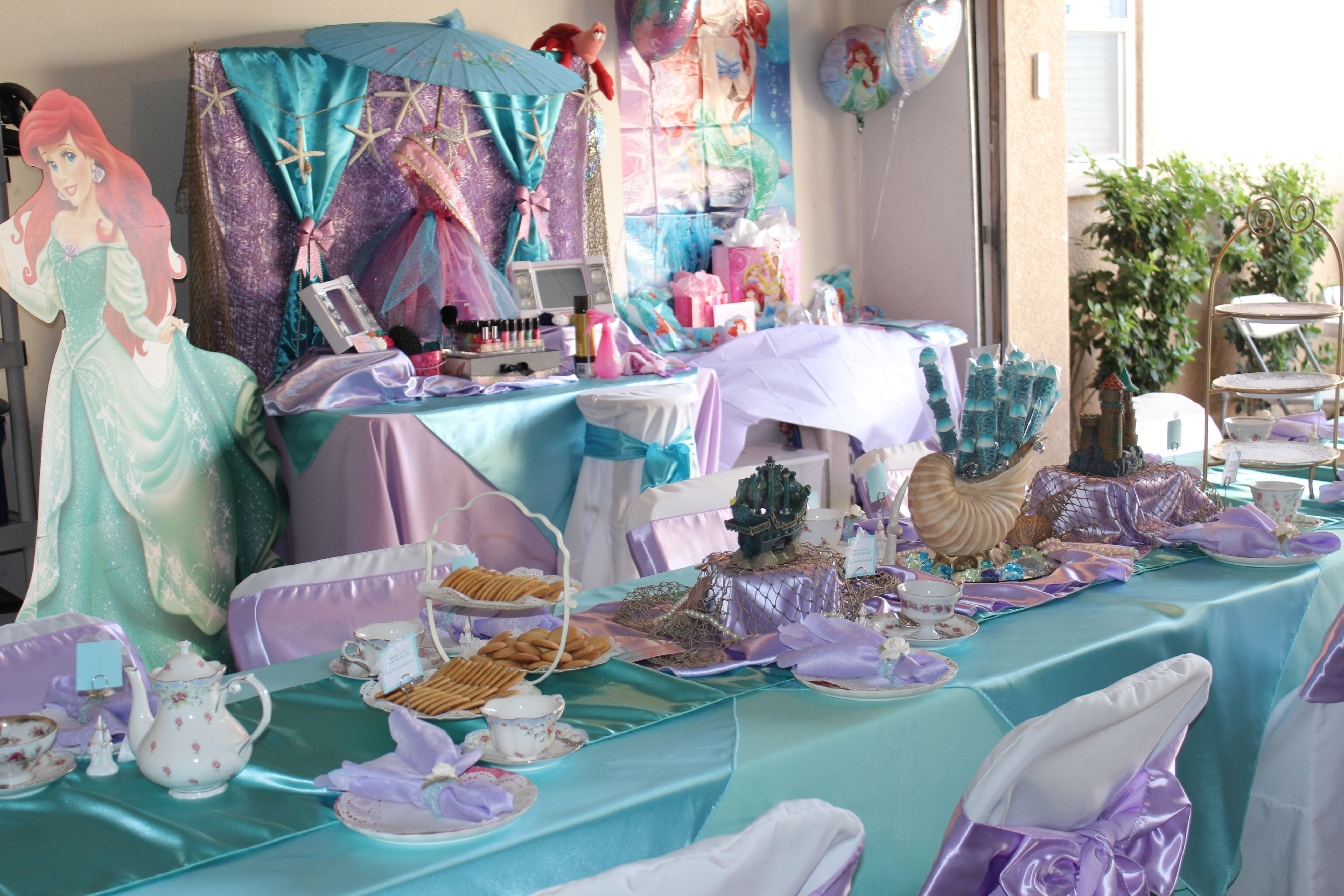 Tea Table Set up and Glamour Session Set up in Little Mermaid Theme ...