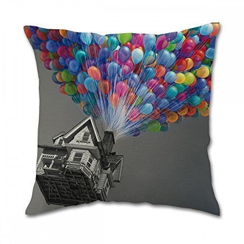 Disney Pixar up Balloons Pillow Covers 16x16 inch one side -- Want additional info? Click on the image.