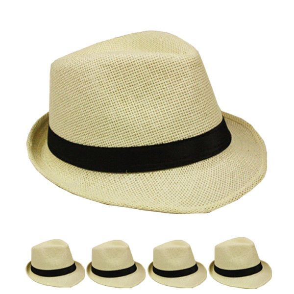 301b4d5b909bf7 Fedora Hat Wedding Dress Formal BEIGE CAP WOMEN MEN BLACK SUMMER CHRISTMAS  #Unbranded #Fedora
