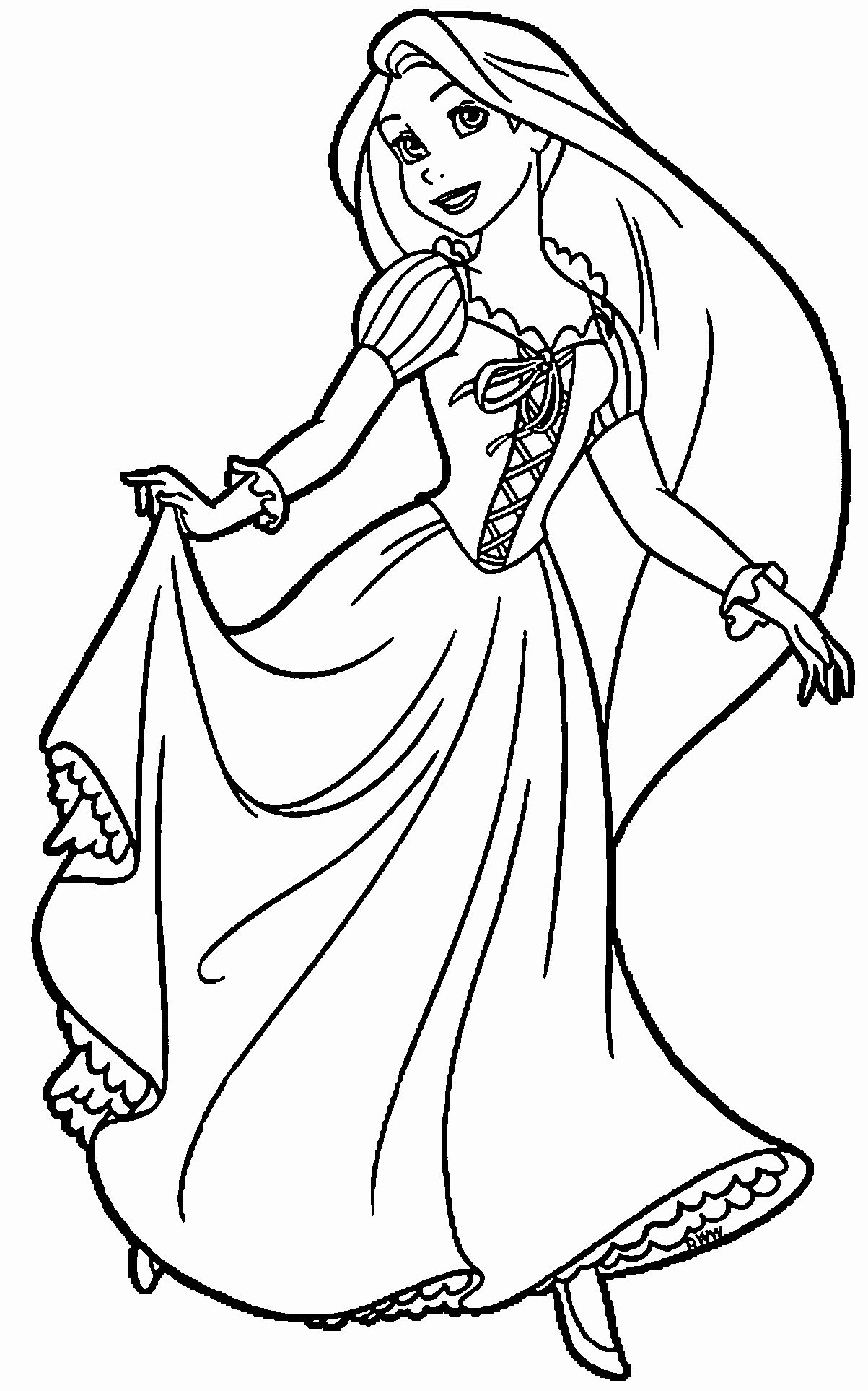 Rapunzel Printable Coloring Pages Lovely Rapunzel And Flynn Coloring Page Wecolor Disney Princess Coloring Pages Tangled Coloring Pages Princess Coloring Pages