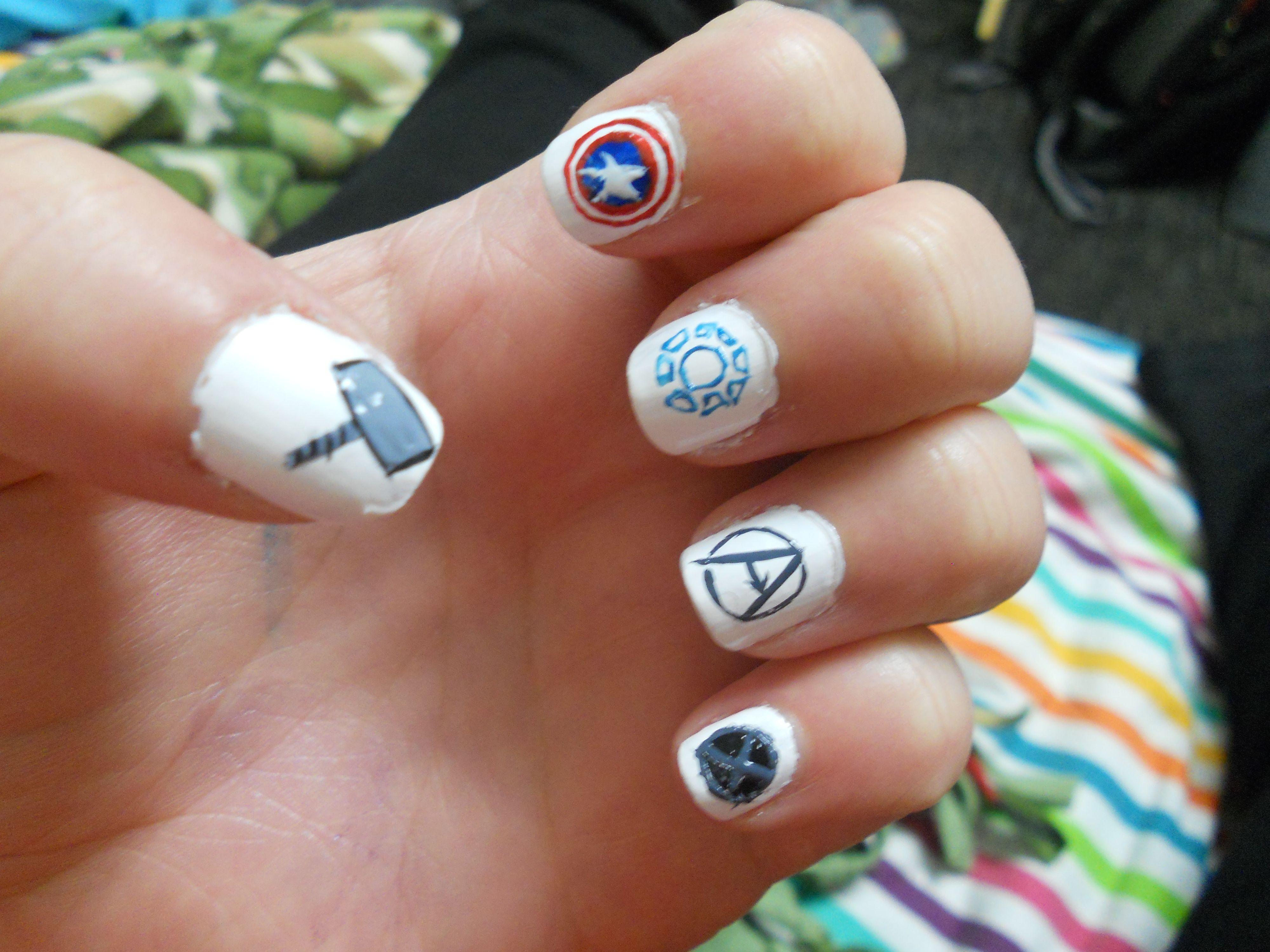 Marvel Superhero Nails Part 1   Nails   Pinterest