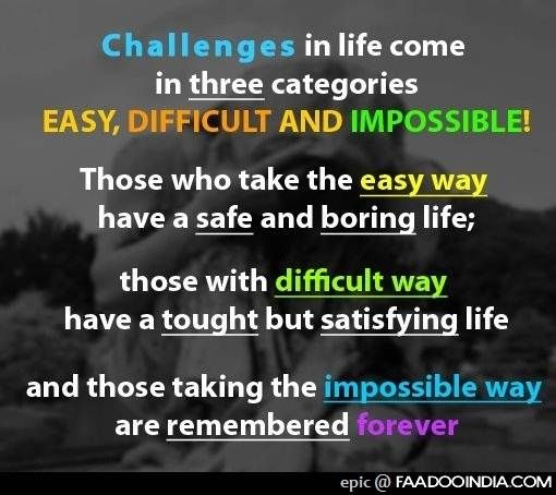 Famous Quotes On Life Challenges: The Greater The Challenge The Bigger The Reward. Like This